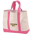 Southern Miss Tote Bags Pink