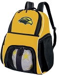 Southern Miss Soccer Ball Backpack Bag Gold