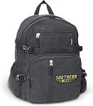 Southern Miss Canvas Backpack Black