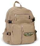 Southern Miss Logo Canvas Backpack Tan