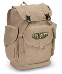 Southern Miss LARGE Canvas Backpack Tan