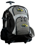 Southern Miss Logo Rolling Backpack Black Gray