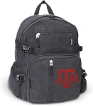 Texas A&M Canvas Backpack Black