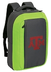 Texas A&M SLEEK Laptop Backpack Green