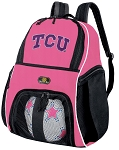 TCU Texas Christian Girls Soccer Backpack