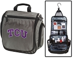 Texas Christian University Toiletry Bag or Shaving Kit Gray