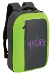 Texas Christian SLEEK Laptop Backpack Green