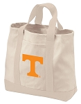 University of Tennessee Tote Bags NATURAL CANVAS