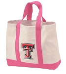 Texas Tech Tote Bags Pink