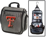 Texas Tech Toiletry Bag or Shaving Kit Gray