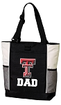 Texas Tech Dad Tote Bag White Accents