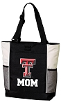 Texas Tech Mom Tote Bag White Accents