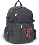 Texas Tech Canvas Backpack Black