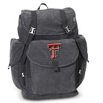 Texas Tech LARGE Canvas Backpack Black