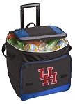 University of Houston Rolling Cooler Bag Blue