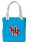 University of Houston Tote Bag RICH COTTON CANVAS Turquoise