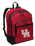 University of Houston Backpack CLASSIC STYLE Red