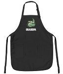 Official UNC Charlotte Grandpa Apron Black