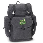 UNC Charlotte LARGE Canvas Backpack Black
