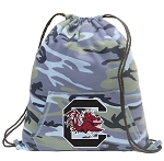 South Carolina Drawstring Backpack Blue Camo