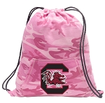 South Carolina Drawstring Backpack Pink Camo
