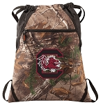 South Carolina RealTree Camo Cinch Pack