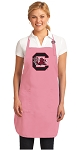 Deluxe University of South Carolina Apron Pink - MADE in the USA!