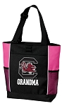 University of South Carolina Grandma Tote Bag Pink