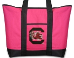 Deluxe Pink University of South Carolina Tote Bag