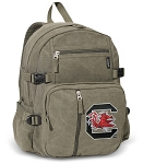 University of South Carolina Canvas Backpack Olive