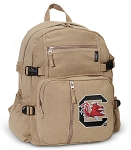 University of South Carolina Canvas Backpack Tan