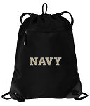 USNA Navy Drawstring Backpack-MESH & MICROFIBER
