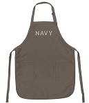 Official USNA Navy Logo Apron Tan