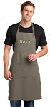 LARGE USNA Navy APRON for MEN or Women Khaki