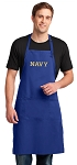 LARGE USNA Navy APRON for MEN or Women Blue