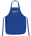 Deluxe USNA Navy Apron Naval Academy Logo for Men or Women