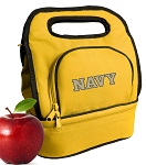 Naval Academy Lunch Bag 2 Section Gold