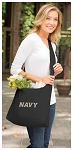 Naval Academy Tote Bag Sling Style USNA Navy Shoulder Bag Black