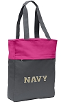USNA Navy Tote Bag Everyday Carryall Pink