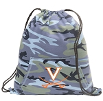 UVA Drawstring Backpack Blue Camo