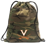 UVA Drawstring Backpack Green Camo