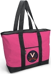 Deluxe Pink University of Virginia Tote Bag