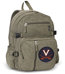 University of Virginia Canvas Backpack Olive