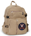 University of Virginia Canvas Backpack Tan