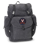 UVA LARGE Canvas Backpack Black