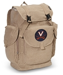University of Virginia LARGE Canvas Backpack Tan