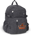 UVA Peace Frog Canvas Backpack Black