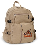 UVA Peace Frog Canvas Backpack Tan