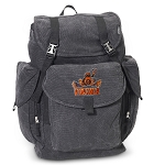 UVA Peace Frog LARGE Canvas Backpack Black
