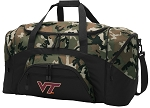 Official Virginia Tech Hokies Camo Duffel Bags